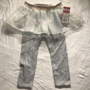 Cat & Jack Bottoms - Cat & jack leggings with tutu size 2t